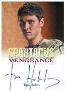 Spartacus Gods Of The Arena Tom Hobbs As Seppius Autograph Card - 2012 Ritten