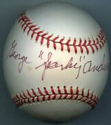 George Sparky Anderson Signed Baseball 1976 Reds 1984 Tigers Hof Psa/dna Authen