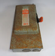 Ite Fk362 Fusible Disconnect Switch W/rusted Top 60a 600vac 50hp 3p Used