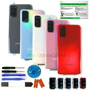 Back Glass Replacement Kit For Samsung Galaxy S20/+/ultra Camera Lens+ip68 Tape