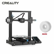 Creality Ender-3 V2 3d Printer 5mins Heat Up Meanwell Power +white Filament Gift