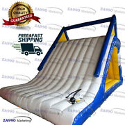 16x10ft Inflatable Triangle Climbing Floating Water Slide With Air Pump