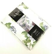 Tablecloth White Green Blue Floral Hydrangea Round 70 Seats 4-6 Nwt