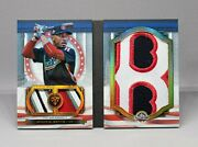 2019 Topps Triple Threads Mookie Betts All Star Jumbo Patch Relic Book 1/1