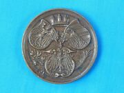 Antique German Franco Prussian War Of 1870 Bronze By Lauer Sport Table Medal