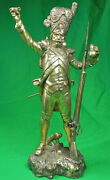 Antique France French 19 Century Spelter Bronze Figurine Statue Military Officer