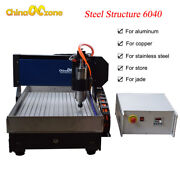 Stainless Steel Cnc Router 6040 3 Axis 2.2kw Engraver Metal Diy Milling Machine