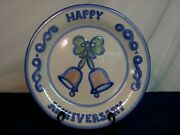 M.a. Hadley 13 Happy Anniversary Plate. Country Scene Theme. Signed. Nice