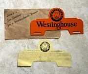 Westinghouse Electric Drivers Fraternity Vintage License Plate Topper Original