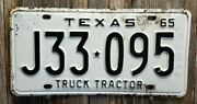 🐾 1965 Texas Truck Tractor License Plate 095