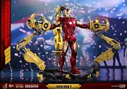 Marvel Iron Man Mark Iv And Suit-up Gantry Hot Toys Sideshow Diecast Mms462 D22