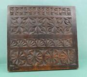 Antique Treen Chip Carved Panel 1705 Stand Spoon Rack Biscuit Mold As Found