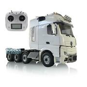 Rc 1/14 Lesu Truck Metal Chassis Radio Sound Light Hercules Actros Cabin Tractor