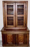 Early 1800's Antique Cabinet Cupboard Farmhouse Rustic Primitive One Of A Kind
