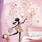 Cartoon Fairy Girl Wall Stickers Wall Decals Kids Rooms Baby Bedroom Decoration