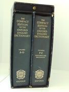 Compact Edition Of The Oxford English Dictionary 2 Vol Boxed Set W/ Magnifier