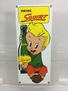 1986 Drink Squirt Porcelain/enamel Sign By Ande Rooney