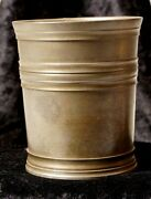 John Somers Js X Mg Brass Pewter Shot Cup 1 With Hallmark