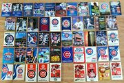 Lot Of Fifty 50 Chicago Cubs Pocket Schedules 1970-2020 - Every Season