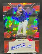 Francis Martes 2017 Panini Chronicles Red Crystals Prizm 25/25 Rc Auto Astros