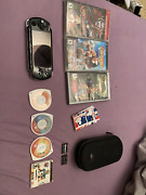 Sony Psp 3001- No Charger / Battery- 7 Games +2 Memory Cards 1 Gb / 32 Mb +case