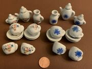 2 Collectable Mini China Tea Sets - Barbie Size -total Lot Of 26 Pieces S-103