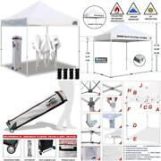 Eurmax 10'x10' Ez Pop Up Canopy Tent Commercial Instant Canopies With Heavy Duty