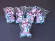 5 New Energizer Bunny Stuffed Bean Bag Plush Promo Toys Keep Going Recovery Gift