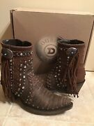 Nib Double D Ranch Vintage Brown Distressed Boogie Ankle Boots 7 1/2 Dd-bl022-1