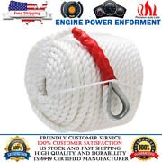 3/4x200and039 Twisted Three Strand Nylon Anchor Rope Line Boat Sailboat With Thimble
