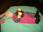 Vintage Old Celluloid Cymbal Toy Clown Doll Metal Figure 8,5 Bakelite