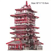 3d Stainless Metal Puzzle Yuewang Tower Building Model Kits Assemble Jigsaw Toys