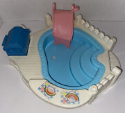 Vintage 1995 Fisher Price Loving Family Dream Dollhouse Pool And Barbeque Bbq