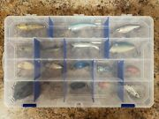 17 Used Vintage Plastic Fishing Lures With Tackle Box Lure Collection Lot 8