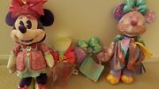 Disney Minnie Mouse The Main Attraction March And April Lot Plush And Ears