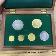 1972 Malta 22ct Gold And Silver Coin Set Complete 1st Issue - 6 Coins Total