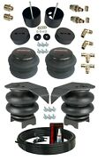 3/8 Front Rear Air Ride Suspension Bag Bracket Mount Kit For 1988-98 Chevy C15