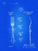 Patent Print Of A Fork Patent From 1884 - Art Print - Patent Poster - Kitchen Ar