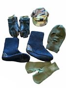 Us Military Air Force Cold Weather Gloves 3 Hole Mask Boot Liner Hot Cap Bundle