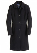 Jcrew Double-cloth Wool Lady Day Coat Thinsulate 4-12 P2 T4-t16 Black