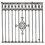 Antique/vintage Large Argentine Hand Forged Iron Window Grille Panel C. 1920 83