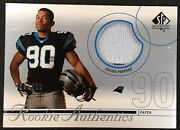 Julius Peppers 2002 Ud Sp Authentic Rookie Jersey Patch 726/850 Panthers - X335
