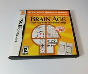 Nintendo Ds Brain Age Train Your Brain In Minutes A Day Game Lot Of 7 New