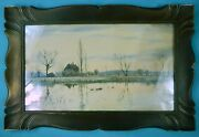 Antique Framed Signed Painting By Robert James Winchester Fraser R. Winter