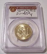 2009 Native American Dollar Error Missing Edge Lettering Ms67 Pcgs Moy Signed