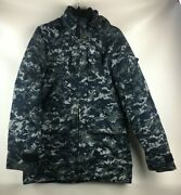 Usn Navy Working Uniform Nwu Type I Blue Gore-tex Parka And Liner Small Long