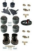 3/8 Front Rear Air Ride Suspension Bag Bracket Mount Kit For 82-88 Chevy G-body