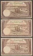 Pakistan - 10 Rupee - Pick 13 - 1953 Issue - Lot Of 3 Different Signatures