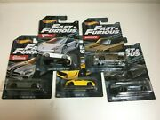 Hot Wheels - Fast And Furious - Set Of 5 - Walmart Exclusive - W/hobbs And Shaw 2020