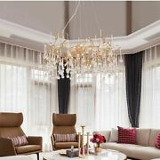 Crystal Chandeliers Light Water Drops Lighting Artistic Branches Ceiling Pendent